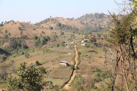 Village du plateau shan