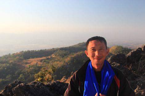 Notre guide pendant le trek d'Inle
