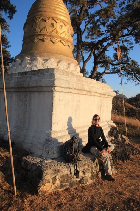 Coucher de soleil dans les montagnes shan