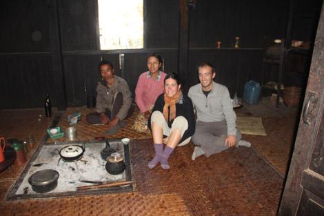 Nos hôtes pour une nuit dans les montagnes shan