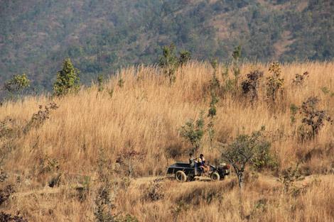 Dans les montagnes du plateau shan