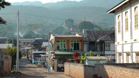 Pindaya, une ville tranquille