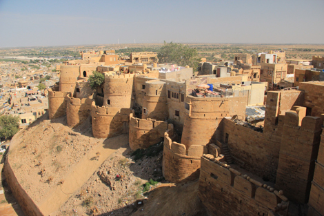 La forteresse, vue de dessus