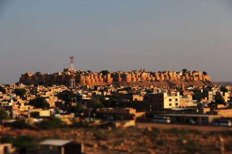 La citadelle de Jaisalmer, dans la lueur du soir