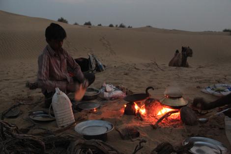 Le repas autour du feu…