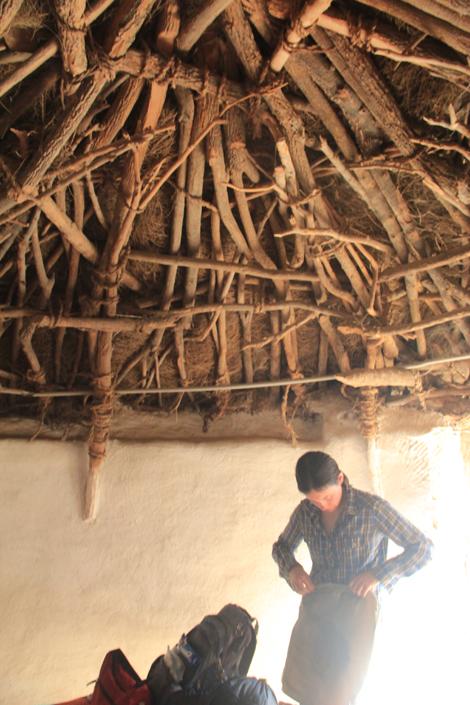 Le toit de la chambre, vu de l'intérieur