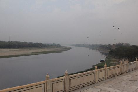 La Yamuna, vue depuis le Taj Mahal