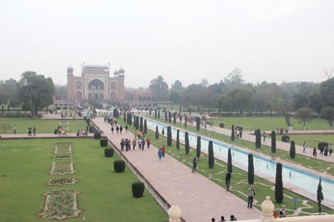 Les jardins vus du Taj Mahal
