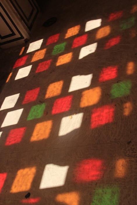 Verres colorés du palais des vents