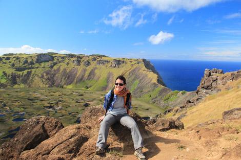 Le cratère de Rano Kau, Rapa Nui, île de Pâques