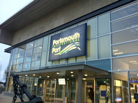 Ce matin, au port de Portsmouth…