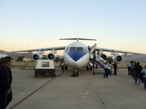 Le plus petit avion que nous ayons pris (et on a eu très peur!)