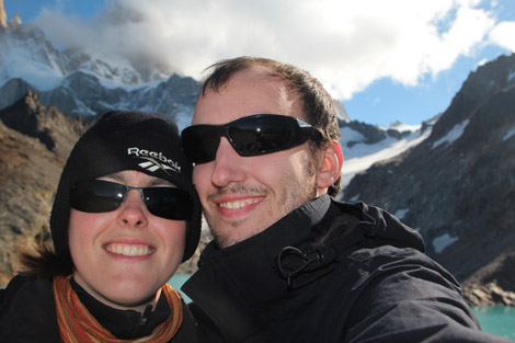 Fabien et Elodie après une longue randonnée