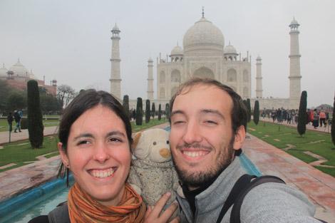Taj Mahal et nous trois