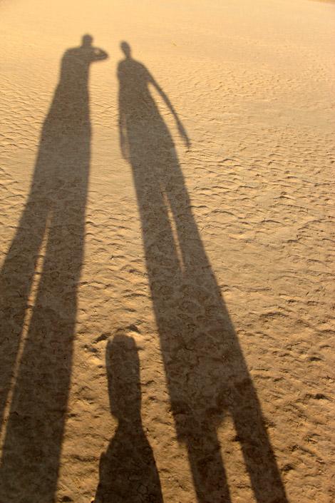 Ombres dans le désert de Death Valley