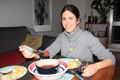 Fondue au chocolat de Bariloche Argentine